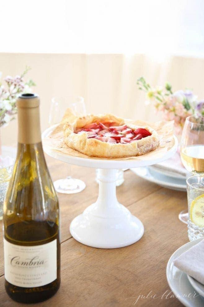 Beautiful 5 minute skinny strawberry tart   Mother's Day dessert