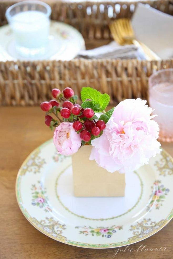 Cherries + Peonies Party | Spring Entertaining Ideas