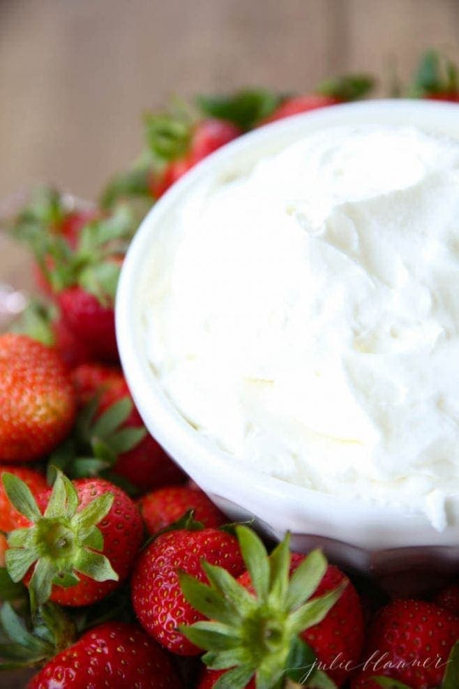 Incredible 3 ingredient mascarpone cream for cakes, fruit dip, crepes & more!