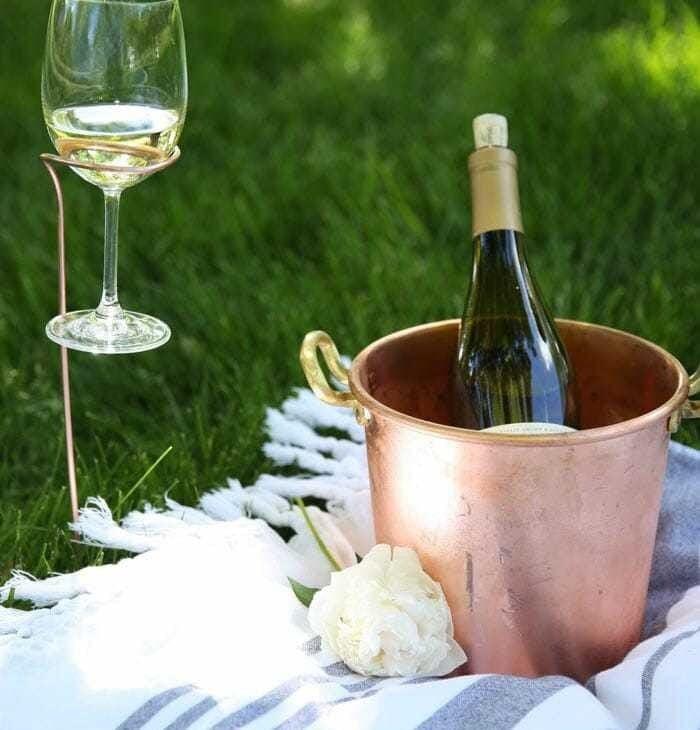 DIY Wine Glass Holders | copper wine stakes tutorial