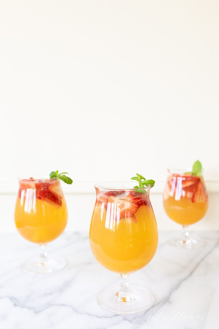 3 glasses of summer sangria