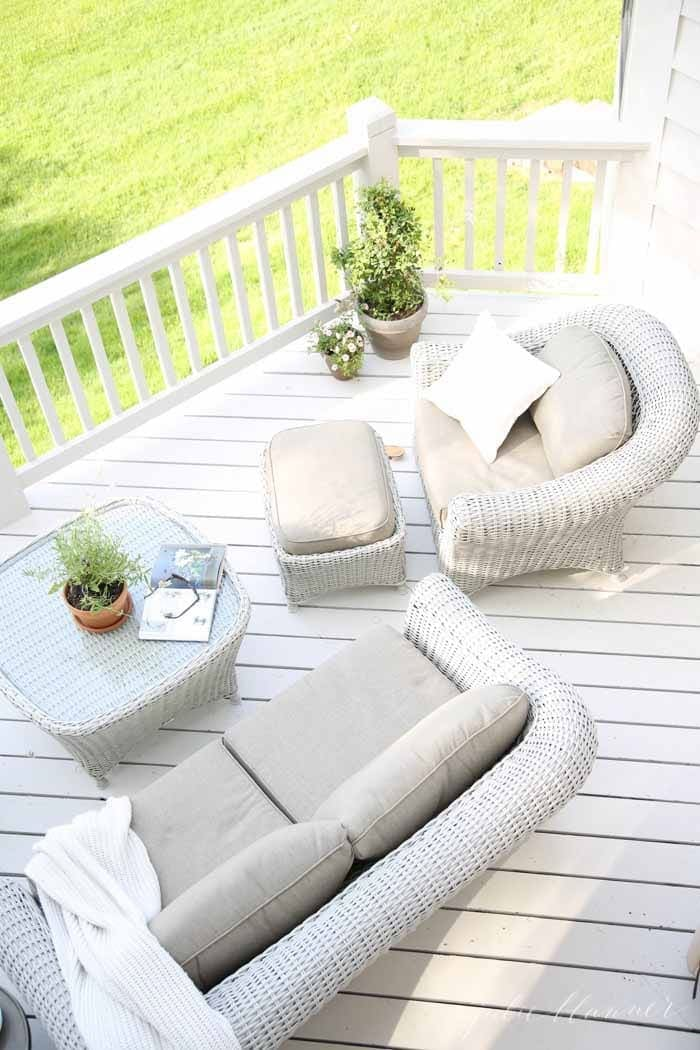 Beautiful Deck With Martha Stewart Living Furniture | Create The Patio Of  Your Dreams With These