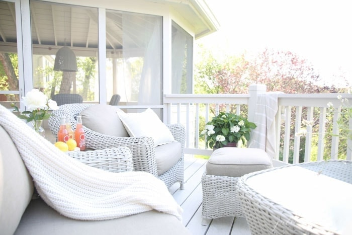 Beautiful outdoor living space with Martha Stewart Living furniture | create the patio of your dreams with these easy ideas