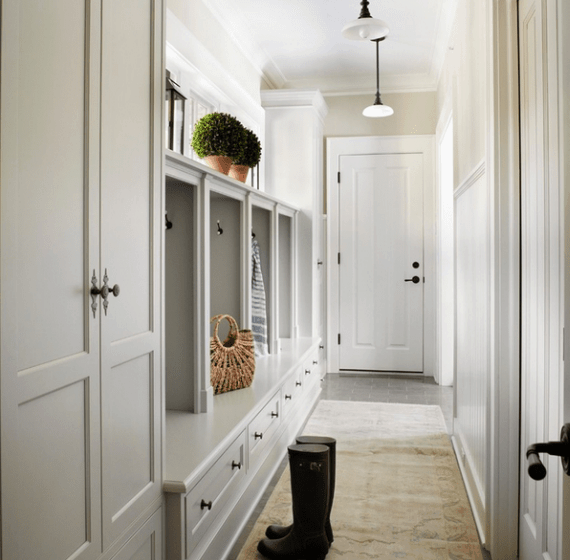 Beautiful mudroom with built-in cabinets via Houzz