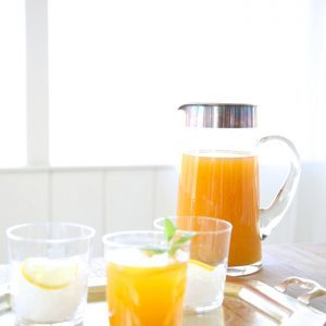 Easy peach sweet tea recipe that is great for summer sipping or the Kentucky Derby