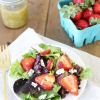 Strawberry Salad with Vinaigrette Poppy Seed Dressing