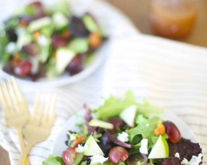 Summer Salad with raspberry vinaigrette