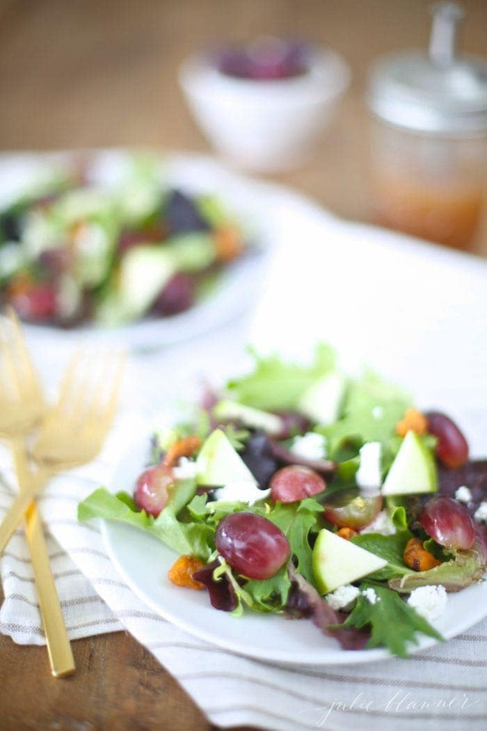 Summer Salad with raspberry vinaigrette