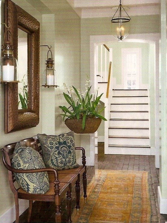 brick floors for entryway