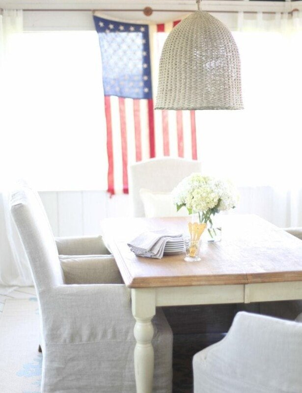Simple 4th of July Decorations with a touch of classic Americana