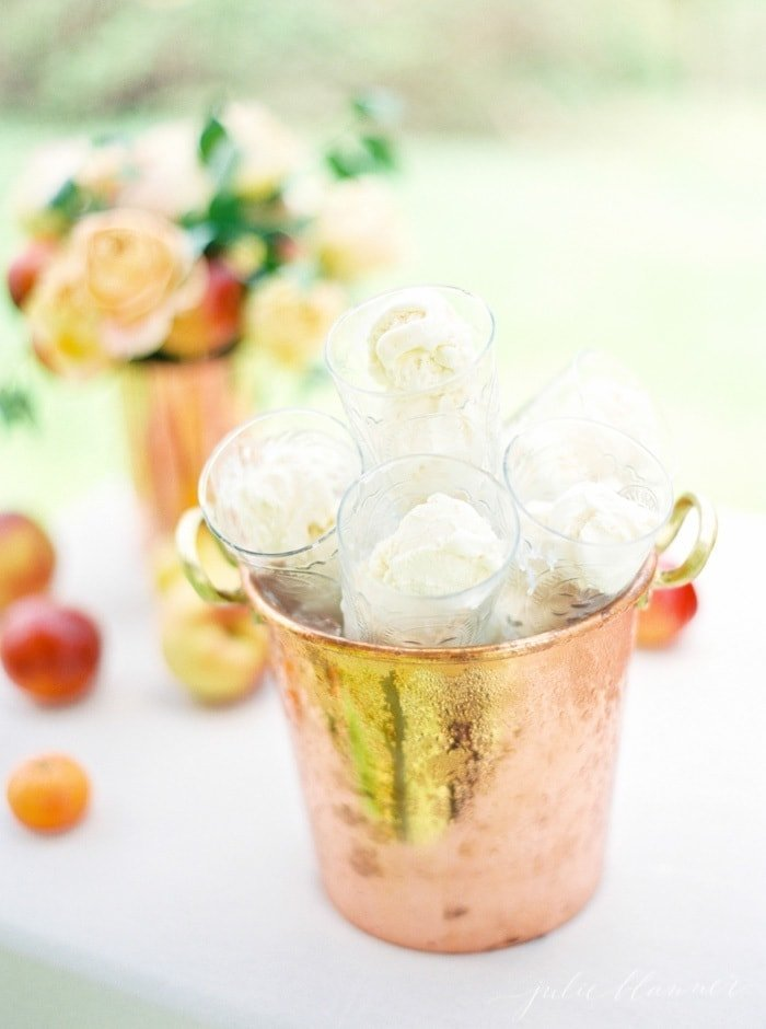 Summer entertaining - how to set up an ice cream float bar for a hot summer day