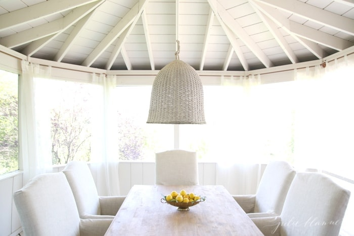 beautiful outdoor dining room | screened in porch ideas