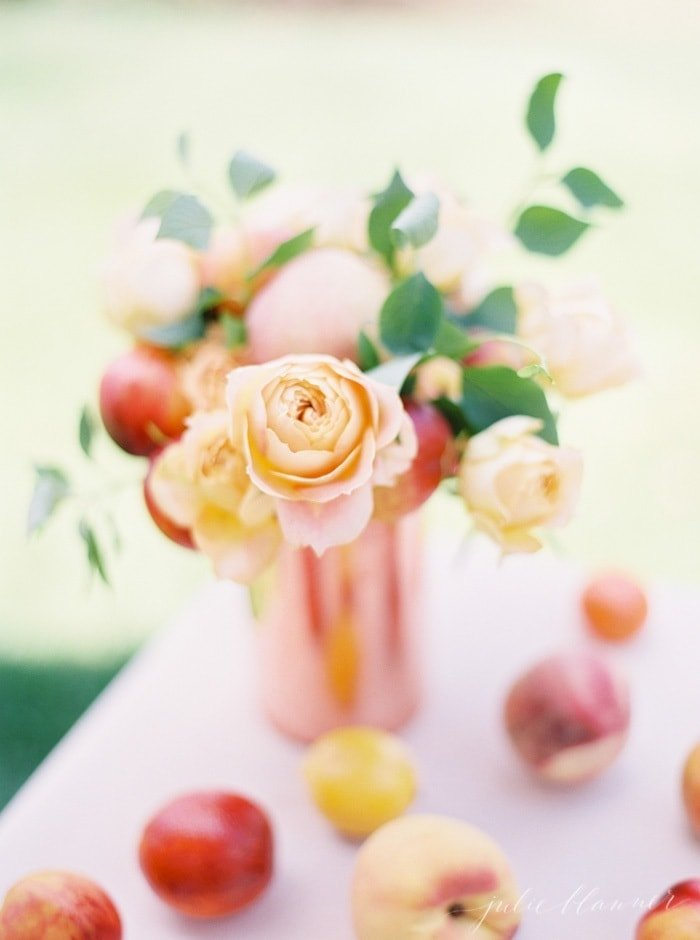Pretty Peach Summer Centerpiece