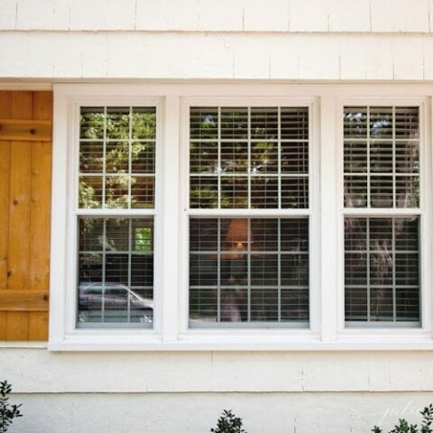 Easy diy cedar wood shutters in board and batten style