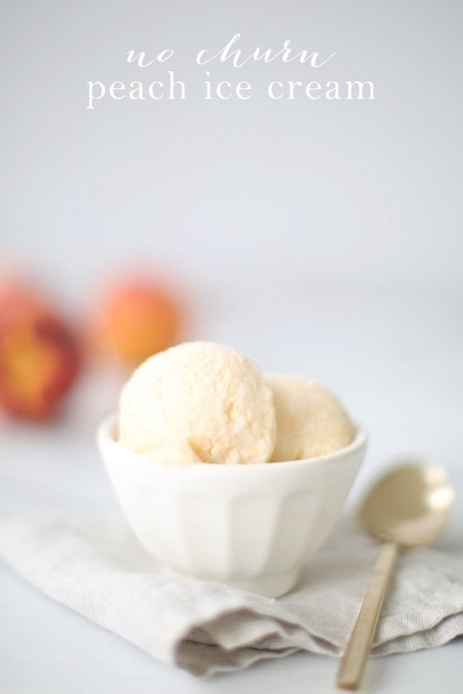 Easy peach ice cream recipe