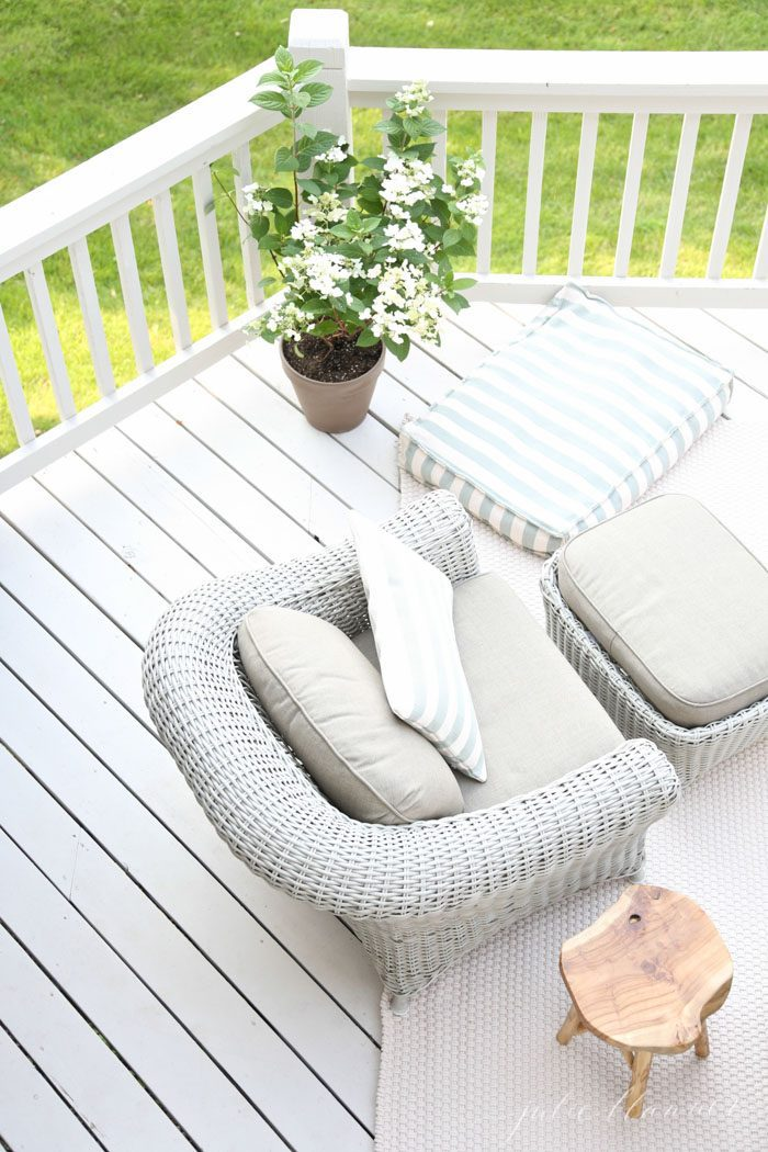 how to paint a deck Outdoor Living | Beautiful decor ideas and how to define your deck or patio as an outdoor living room