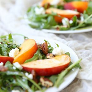 Summer Peach Salad with Honey Dijon Vinaigrette