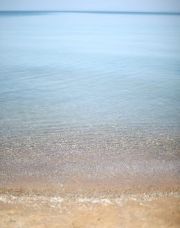 Pier Cove Beach | smooth rocks, beach glass & pristine stream into Lake Michigan