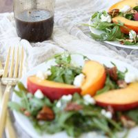 Peach Salad with Honey Dijon Vinaigrette