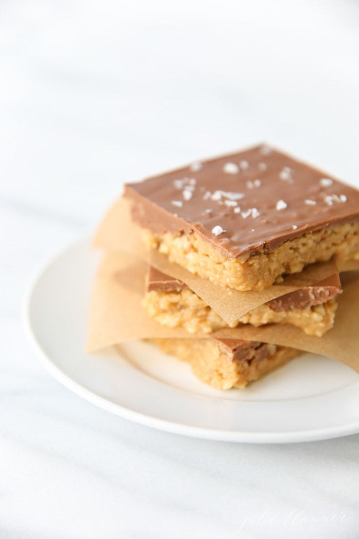 Sweet and Salty No Bake Peanut Butter Bars