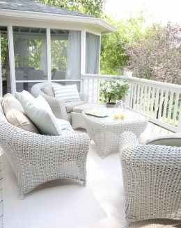 Outdoor Living | Beautiful decor ideas and how to define your deck or patio as an outdoor living room