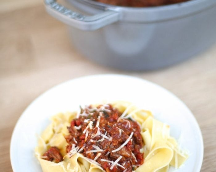 Easy braised beef ragu recipe with pappardelle
