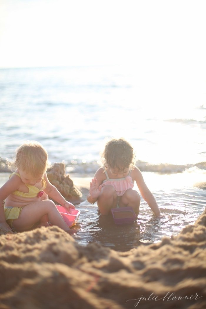 shallow entry beaches in West Michigan are calm, clean and family friendly