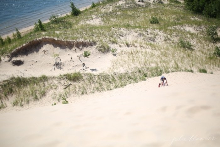 Climb the sand dunes at Silver Lake in West Michigan
