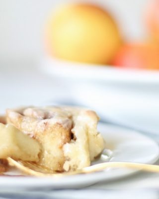 Easy apple cinnamon rolls recipe - get the secret to the lightest, fluffiest, better-than-the-bakery cinnamon rolls with creamy icing.
