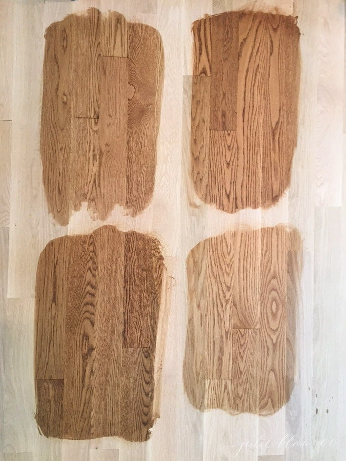 Choosing wood floor stain color on white oak | golden brown and special  walnut - Wood Stain Colors For Floors