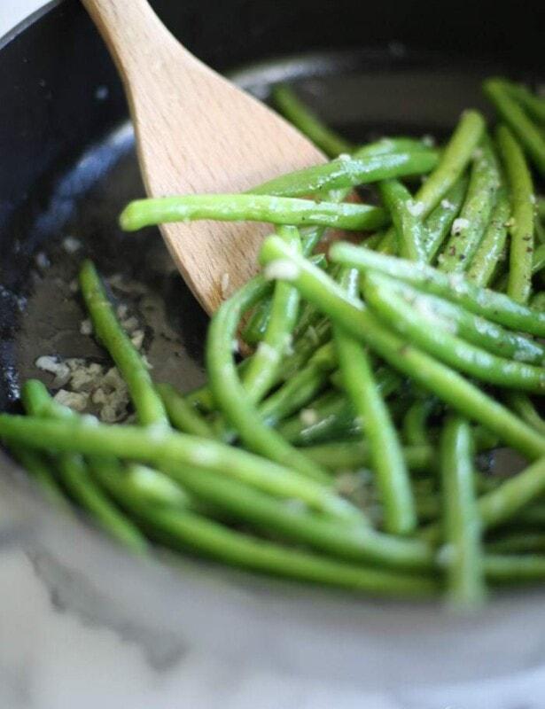 Green Beans in shallot butter sauce