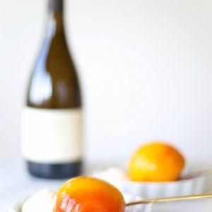 Poached peaches with mascarpone cream recipe