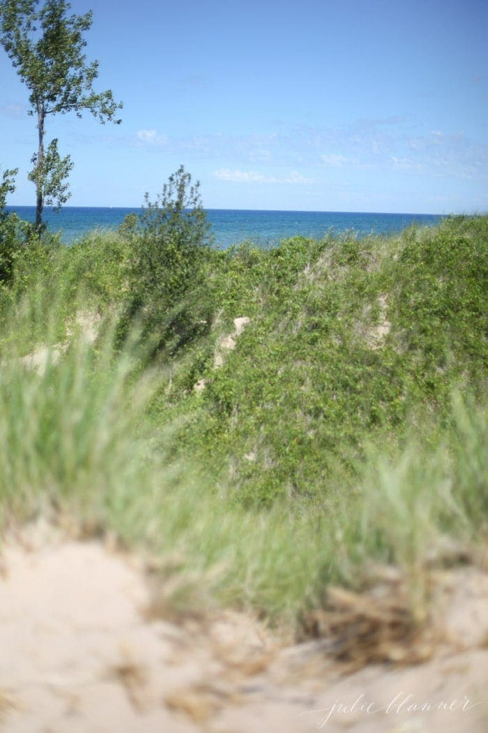 Climb, slide down or jump in the sand dunes at Silver Lake State Park
