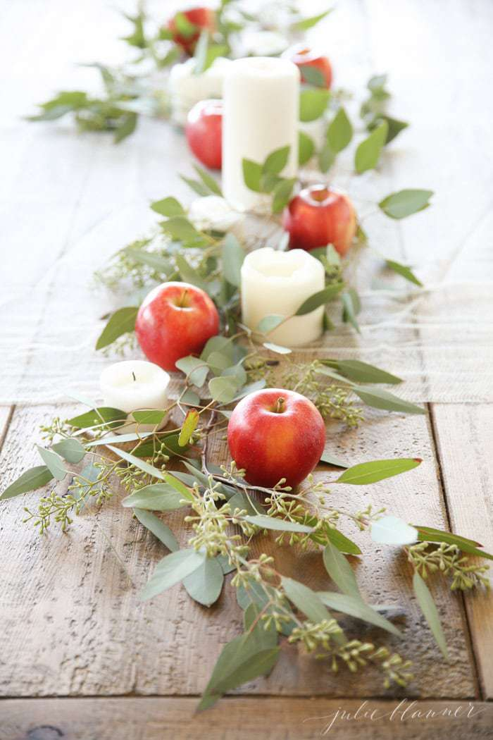 apple table centerpiece