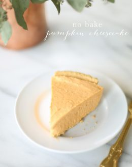 5 minute, 5 ingredient no bake pumpkin cheesecake recipe