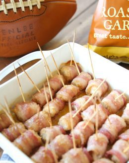 Sweet Bacon Wrapped Chicken Bites   easy to make, easy to eat and incredibly good!