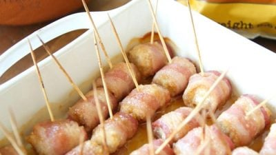 Sweet Bacon Wrapped Chicken Bites | easy to make, easy to eat and incredibly good!