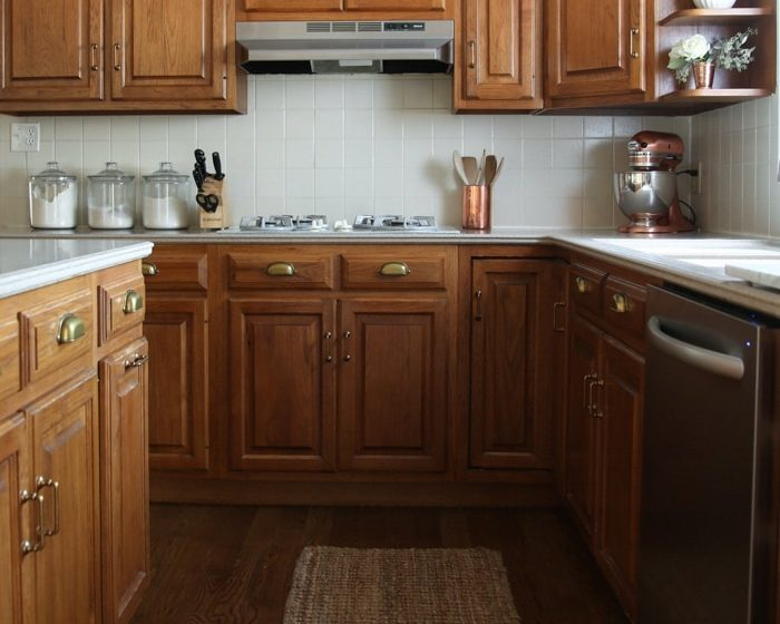 A kitchen makeover without paint - making the best of an 80's or 90's kitchen