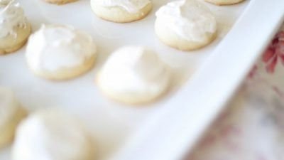 brown butter sugar cookies with brown butter frosting