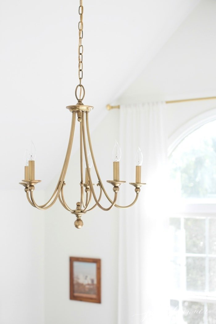 beautiful warm gold chandelier