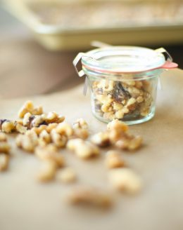 Easy candied nuts recipe - great for gift giving or topping salads, ice creams and pies