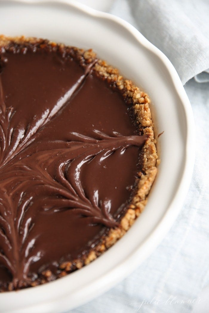Easy Chocolate Pie on a Pretzel Crust | National Chocolate Day