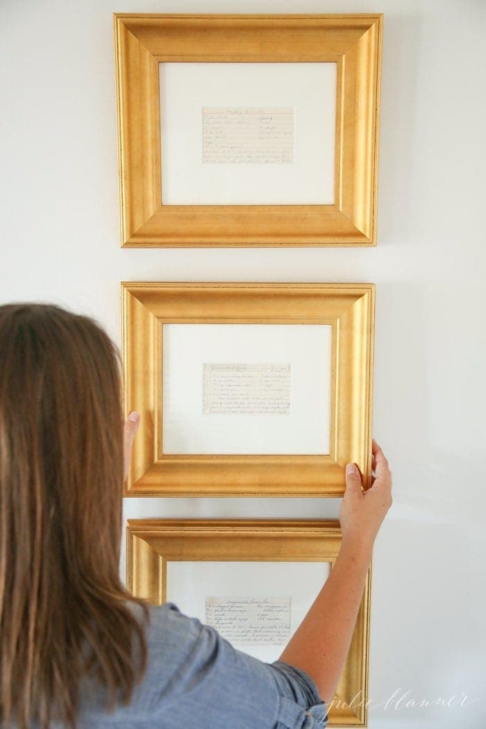 frame family recipes for beautiful kitchen art