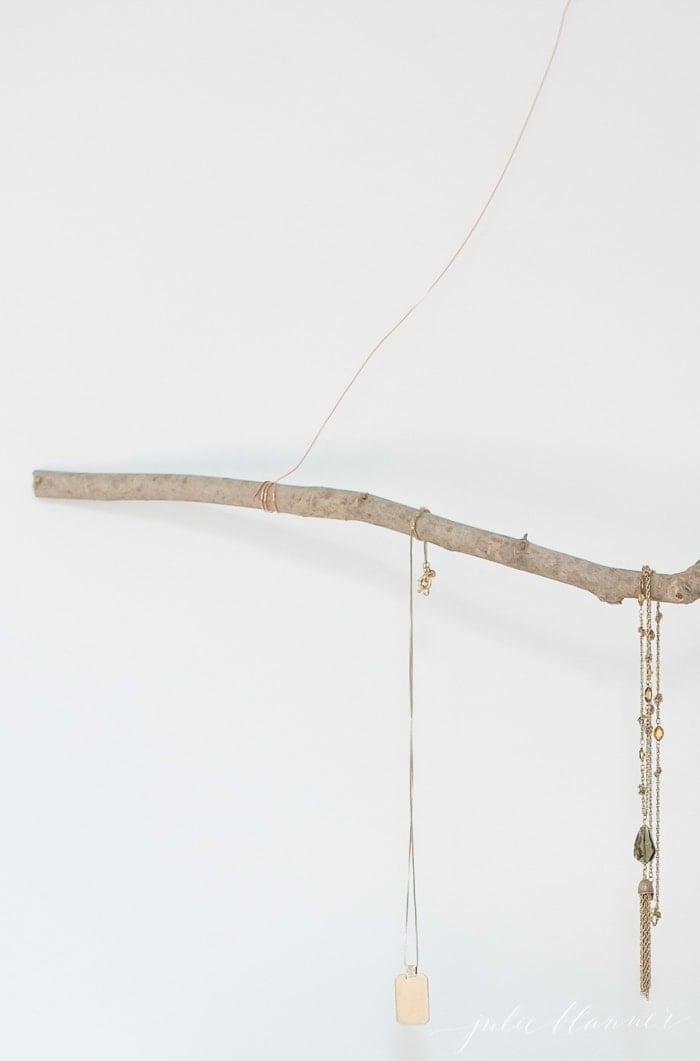 jewelry hanger diy gift idea