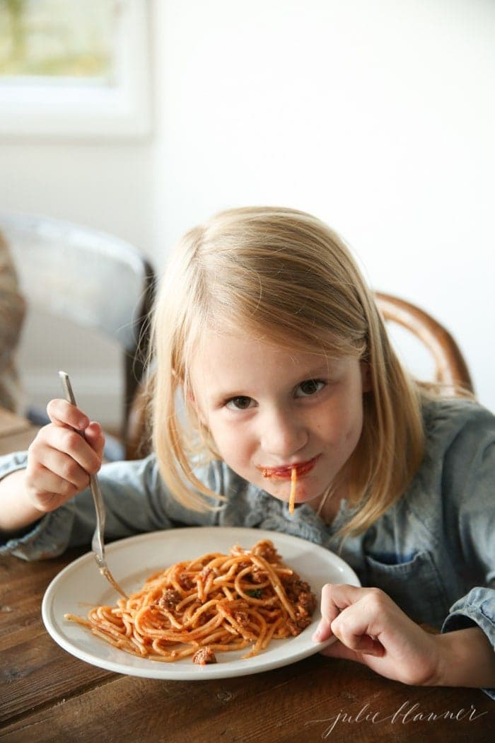 Fresh and healthy bolognese - a fall dinner adults and kids alike love!