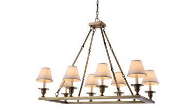 brass rectangular chandelier for dining room