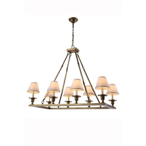 brass rectangular chandelier for dining room