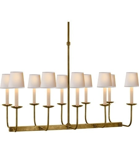 dining room chandelier - brass rectangle chandelier