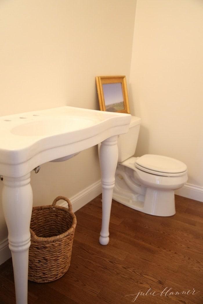 traditional home bathroom in progress