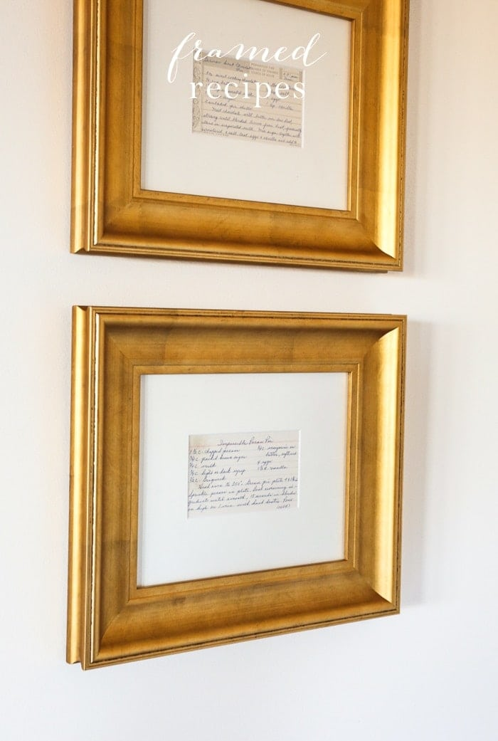 Framed Recipes Kitchen Art | Family Gift Idea